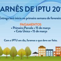 Secretaria de Finanças informa sobre o início da distribuição dos carnês do IPTU 2017
