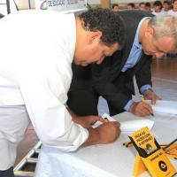 Prefeito Paulo Blascke e presidente da On Telecom lançam projeto de internet 4G para escolas municipais